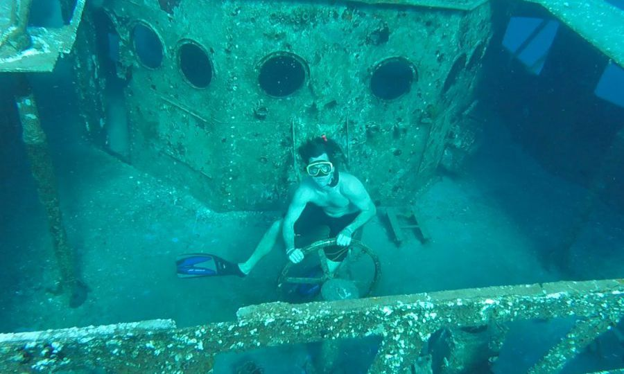 Snorkel the USS Kittiwake sunken ship
