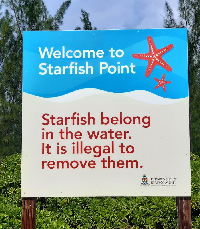 Starfish Point sign