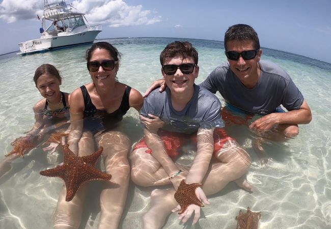 Starfish Point with the Davis family